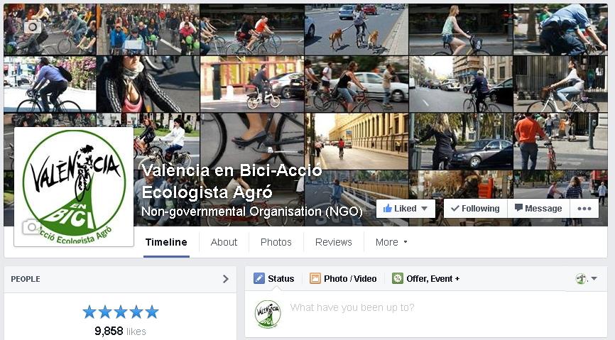 Facebook de València en Bici