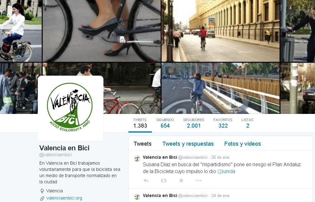 Twitter de València en Bici